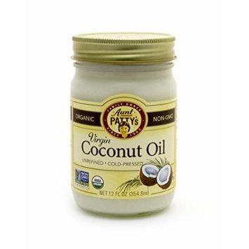 Aunt Patty's Coconut Oil, Unrefined Virgin, 12 Ounce