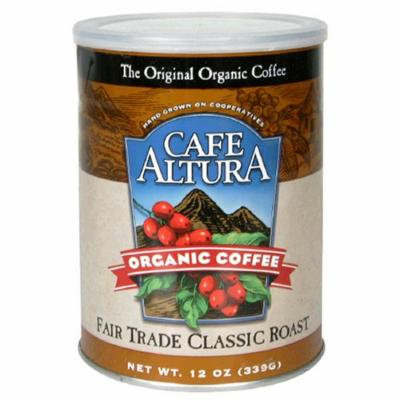 Cafe Altura Organic Coffee, Fair Trade Classic Roast, Ground, 12-Ounce Can