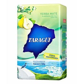YERBA MATE TARAGUI PERA MEDITERRANEA (MEDITERRANEAN PEAR) - IMPORTED FROM ARGENTINA - 500 GR/1.17 LB (2 PACK)