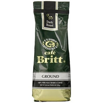 Cafe Britt Peru Dark Roast Ground, 8.8 Ounce