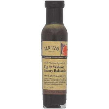 Lucini Italia Fig Walnut Savory Balsamic Vinaigrette 8.5 Oz (Pack of 6)
