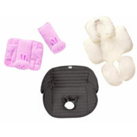 Summer Infant CushyStraps, Snuzzler Head & Body Support and Deluxe Piddle Pad Car Seat Liner, Pink