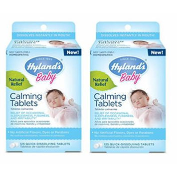 Hyland's Homeopathic Baby Calming Tablets, 125 Count (Pack Of 2)