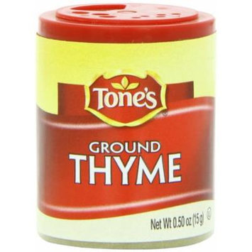 Tone's Mini's Thyme, Ground, 0.50 Ounce (Pack of 6)