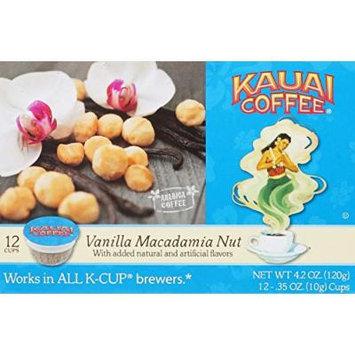 Kauai Coffee Vanilla Macadamia Nut Single-Serve Cups, 72 Count