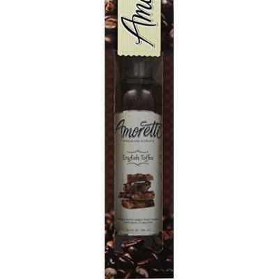 Amoretti Premium English Toffee Syrup 750ml 3 Pack