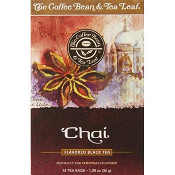 The Coffee Bean & Tea Leaf Chai Tea, 18 Count (Pack of 6)