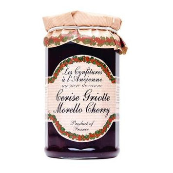 Morello Cherry Jam Andresy All natural French jam pure sugar cane 9 oz jar Confitures a l'Ancienne, One
