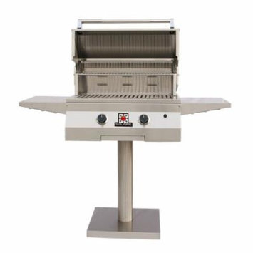 Solaire 27-Inch Basic Infrared Propane Bolt-Down Post Grill 2-IR Burners, Stainless Steel