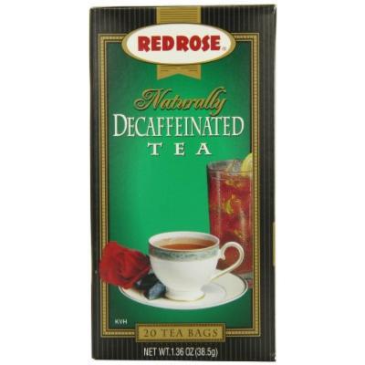 Red Rose Natural Decaf Tea, 20-Count (Pack of 6)