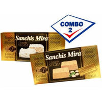 Sanchis Mira Turron Combo Pack 1 Jijona & 1 Alicante. Pack of 2