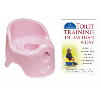 Summer Infant Lil' Loo Potty with Toilet Training In Less Than a Day Guide Book, Pink