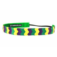 One Up Bands Women's Vertical Chevron Mardi Gras One Size Fits Most