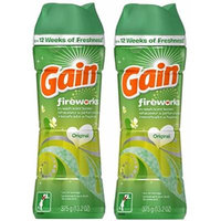 Gain Fireworks In Wash Scent Booster, Original, 13.2 Ounce (Pack of 2)