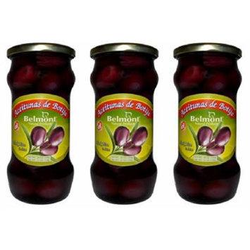 Belmont Aceituna De Botija Black Olives in Brine 3 Pack - 20 Oz. ea