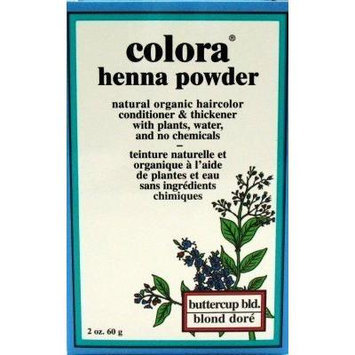 Colora Henna Veg-Hair Butter-Cup Blonde 2 oz. (3-Pack) with Free Nail File