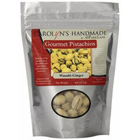 Carolyn's Handmade Gourmet Platinum Snack Bag, Wasabi Ginger Pistachios, 4 Ounce