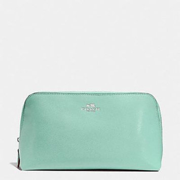 Coach Cosmetic Case Crossgrain Leather F53387 Seaglass