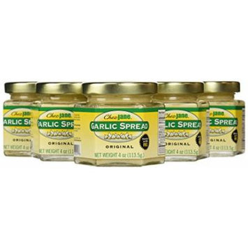Chez Jane Garlic Spread, Original, 4-Ounce Jars (Pack of 6)