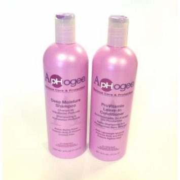 Aphogee Deep Moisture Shampoo & ProVitamin Leave Conditioner 16 oz