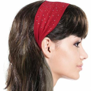 Simple Sparkling Rhinestone Stretch Headband - Red (1 Pc)