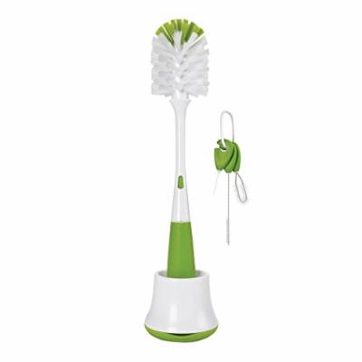 OXO Bottle Brush w/ Nipple Cleaner and Stand & OXO Cleaning Brush Set, Green
