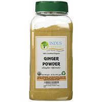 Indus Organic Ginger Powder Spice 1 Lb (1x2 Jars), High Purity & Sulphite Free