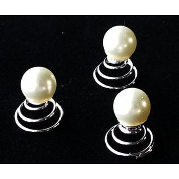 Single White Pearl Hair Twists (pack of 8)