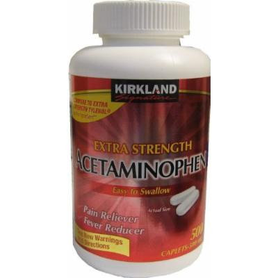 Kirkland Signature Extra Strength Acetaminophen 500MG Caplets (2000 Count)