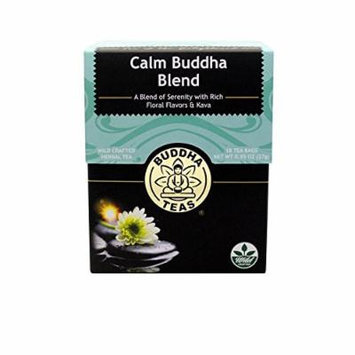Calm Buddha Blend Tea - Organic Herbs - 18 Bleach Free Tea Bags