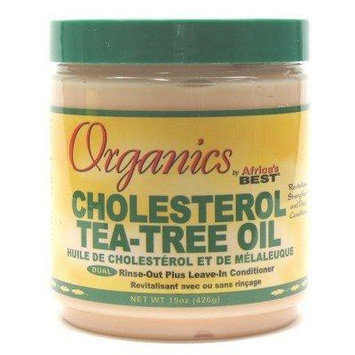 Africa's Best Organic Cholesterol Tea Tree Conditioner 15 oz. Jar (3-Pack) with Free Nail File