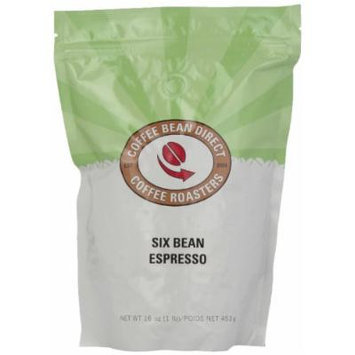 Six Bean Espresso, Whole Bean Coffee, 16-Ounce Bags (Pack of 3)