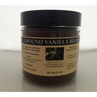 Bakto Flavors Ground Vanilla Beans - Madagascar- Vanilla planifolia, 65g -2.3 OZ Jar