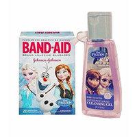 Disney Frozen BandAid Adhesive Bandages 20 Ct Pk Plus Bonus Disney Frozen Berry Scented Antibacterial Hand Cleansing Gel