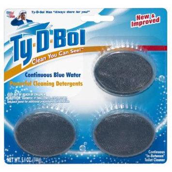 Ty-D-Bol Blue Toilet Bowl Cleaner - 3 Tablet Pack