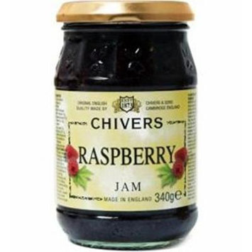 Chivers Raspberry Jam, 12 Oz Jar (340 Grams) - Made in England (Pack of 2)