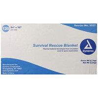 Dynarex Survival Rescue Blanket, 120 Count, 84 Inch x 52 Inch, (Pack of 120)
