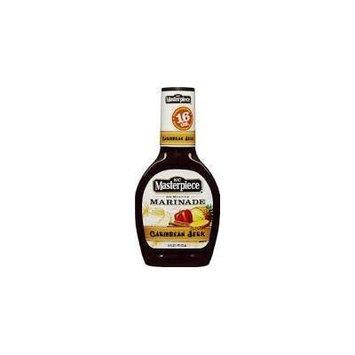 KC Masterpiece 30 Minute Marinade, Gluten Free -Caribbean Jerk Marinade Sauce 16 oz. bottle (Case of 6)
