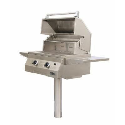 Solaire 27-Inch Basic Infrared Propane In-Ground Post Grill, Stainless Steel