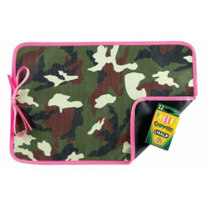 AM PM Kids! Reversible Placemat/Chalkboard, Pink Camo