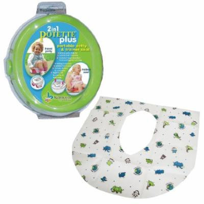Kalencom 2-in-1 Potette Plus with Summer Infant Potty Protectors, Green