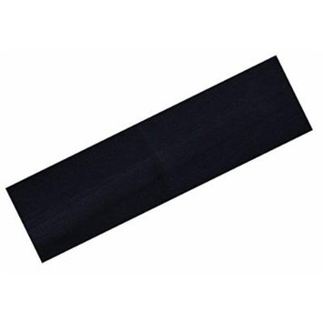 Yoga Soft Stretch Cotton Headband Large - Black 12 pack