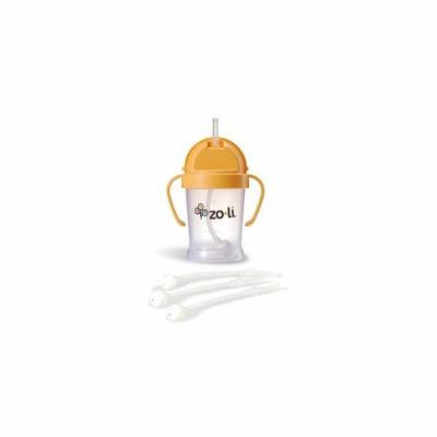 Zoli Bot Straw Sippy Cup (Orange) Plus 3 BOT Replacement Straws.