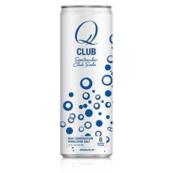 Q Drinks, Q Club, Spectacular Club Soda, 12 Ounce Slim Can (Pack of 12)