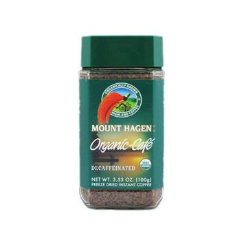 Mount Hagen: Organic Café Decaffeinated Freeze Dried Instant Coffee (4 X 3.53 Oz)