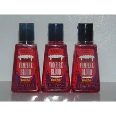 Bath & Body Works Vampire Blood Anti-Bacterial Hand Gel/Pocketbac - Lot of 3
