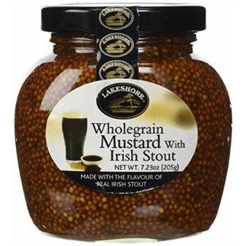 Lakeshore Wholegrain Mustard with Irish Stout 7.2 oz Jar