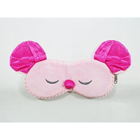 Eye Mask Shades Blindfold Sleeping Warm Cold Gel Pack Travel Comfortable Night's Bestever (Mouse-Pink)