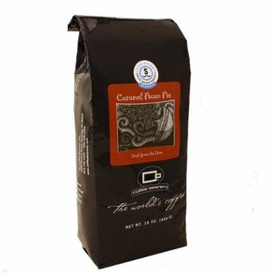 Coffee Beanery Caramel Pecan Pie Flavored Coffee SWP Decaf 16 oz. (Fine)