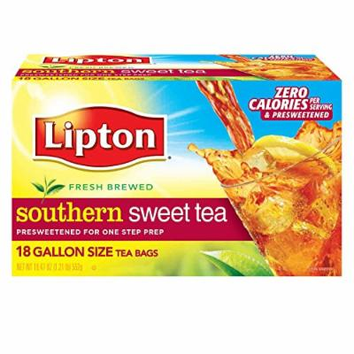 Lipton Southern Sweet Tea, Gallon-Size Tea Bags, 18-Count